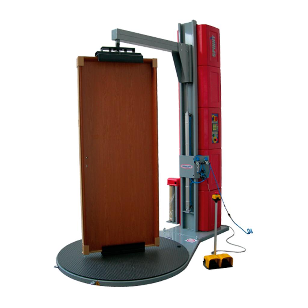 Envolvedora enfardadora semiautomática plataforma giratoria pisor puertas