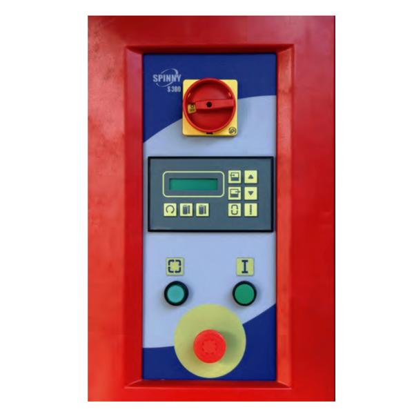 Envolvedora enfardadora semiautomática plataforma giratoria panel Spinny S300