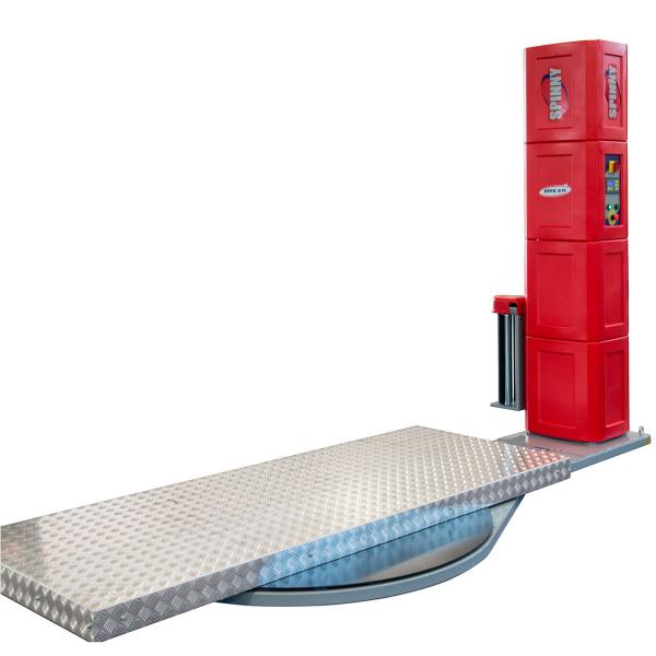 Envolvedora enfardadora semiautomática con plataforma extra larga