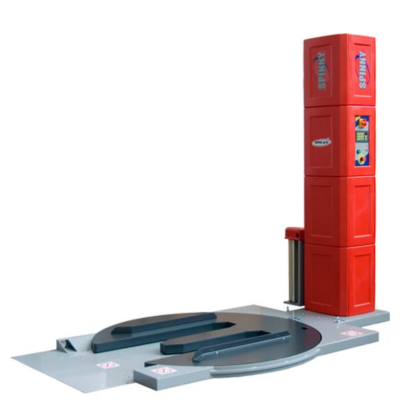 Envolvedora enfardadora semiautomática plataforma giratoria Spinny-S140 TP frontal