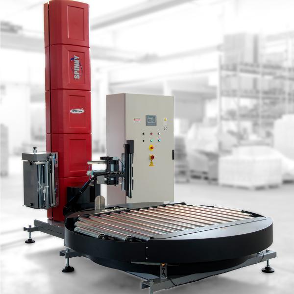Envolvedora enfardadora semiautomática plataforma giratoria Spinny S2300-1