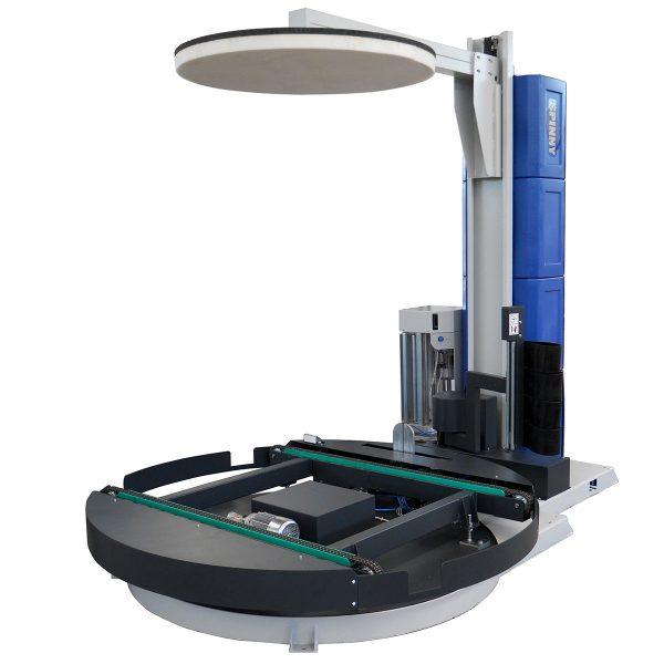 Envolvedora enfardadora semiautomática plataforma giratoria Spinny S2300 cadena pisor