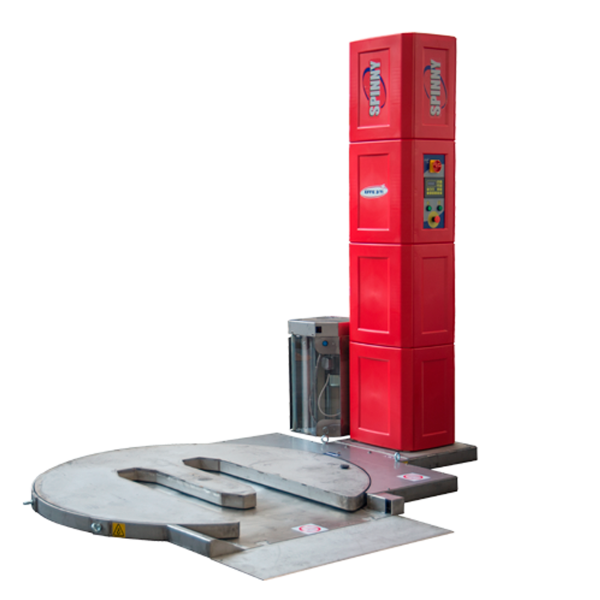 Envolvedora enfardadora semiautomática plataforma giratoria Spinny S300-TP inoxidable