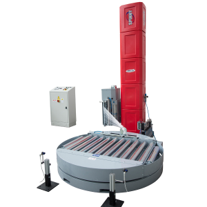 Envolvedora enfardadora semiautomática plataforma giratoria Spinny S500 inline