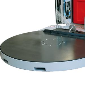 Envolvedora enfardadora semiautomática plataforma giratoria Spinny S500 pinza corte