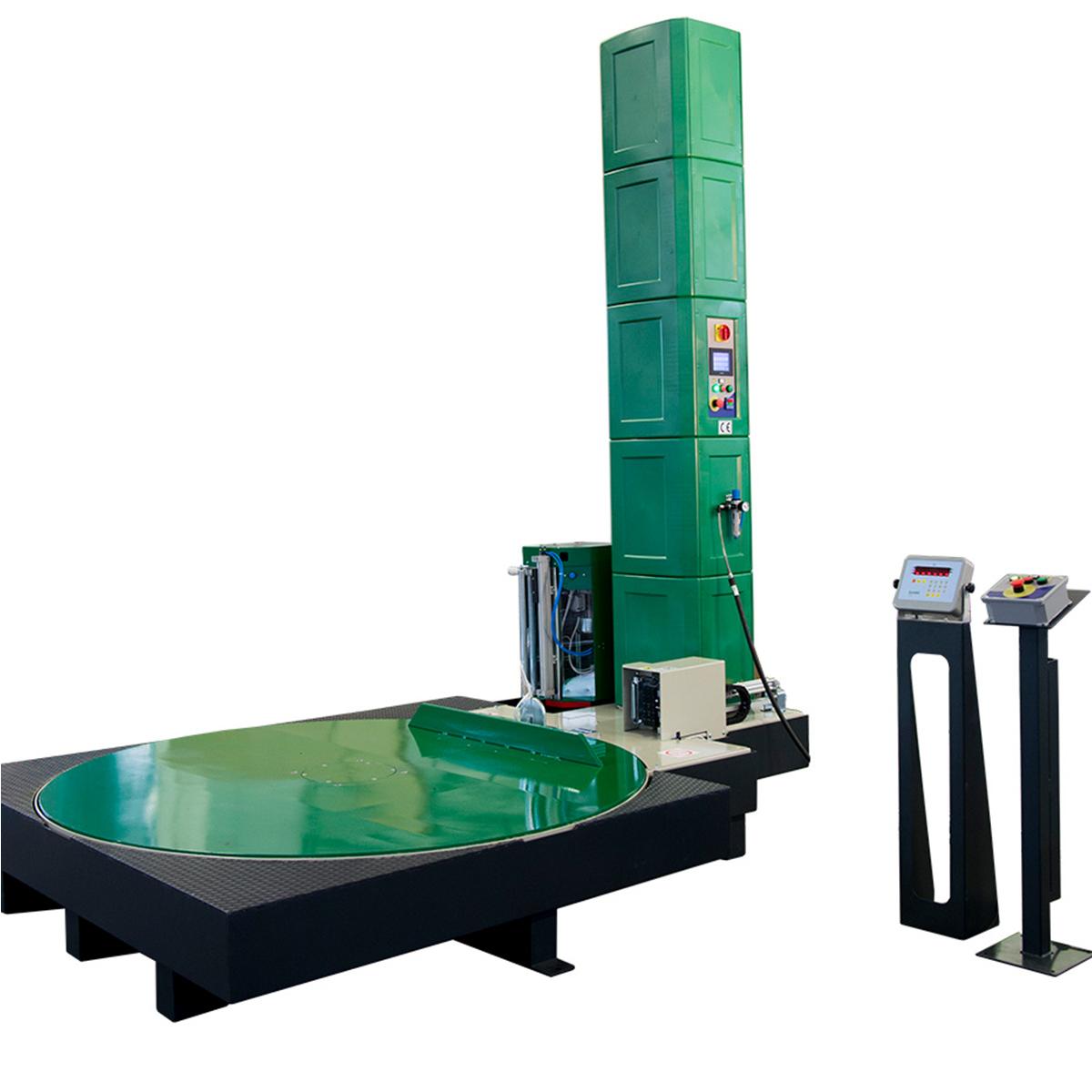 Envolvedora enfardadora semiautomática plataforma giratoria Spinny S500 unidad de pesaje