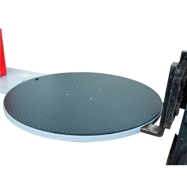 Enfardadora semiautomática plataforma giratoria fácil transporte