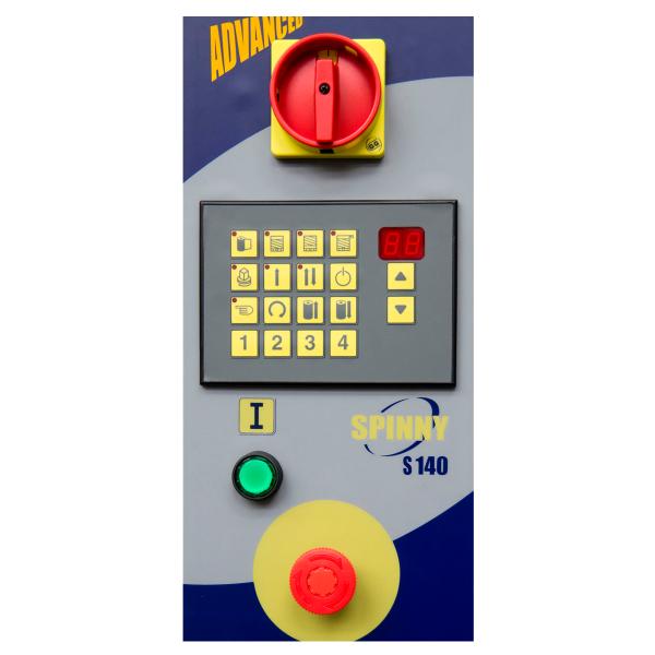 Envolvedora enfardadora semiautomática plataforma giratoria panel Spinny S140 Adv