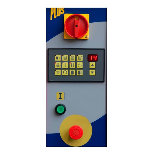 Envolvedora enfardadora semiautomática plataforma giratoria panel Spinny-S140-plus