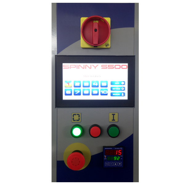 Envolvedora enfardadora semiautomática plataforma giratoria panel Spinny-S500