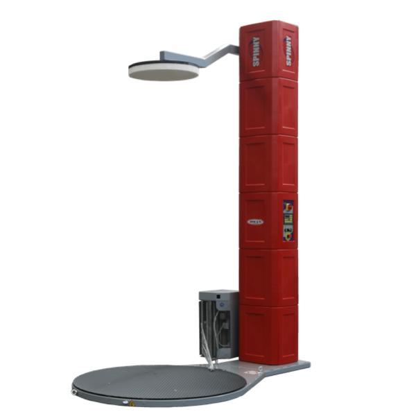 Envolvedora enfardadora semiautomática plataforma giratoria pisor superior