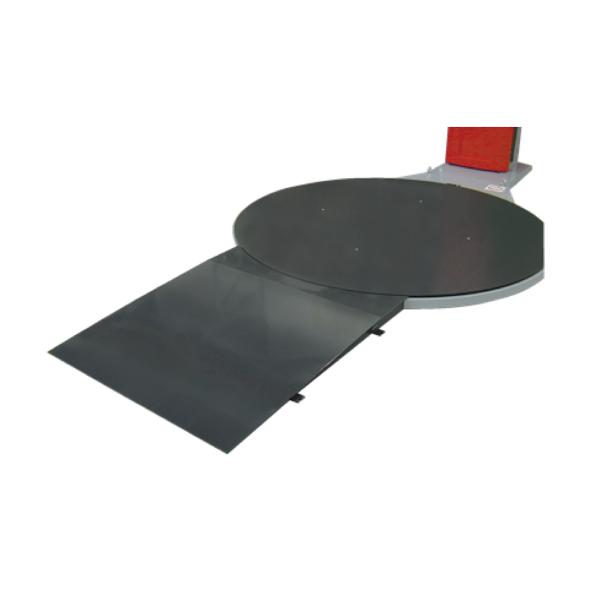 Envolvedora enfardadora semiautomática plataforma giratoria rampa