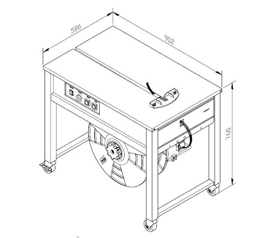Flejadora semiauto tp-202 medidas