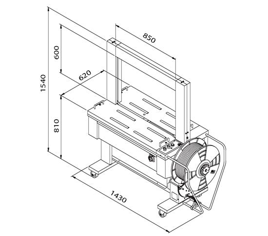 Flejadora auto tp-601D medidas