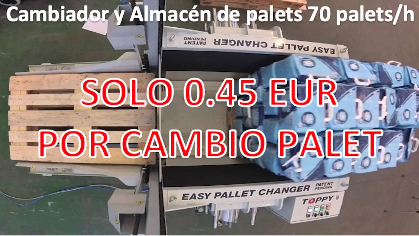 Solo 0.45 EUR por cambio palet